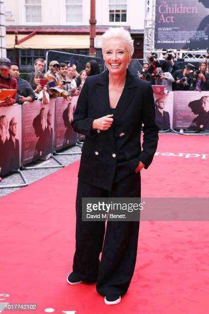Emma Thompson attends the UK Premiere of The Children Act at The Curzon Mayfair on August 16 2018 in London England