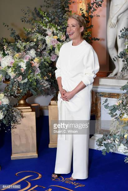 Emma Thompson attends UK launch event for Disney's 'Beauty And The Beast' at Spencer House on February 23 2017 in London England