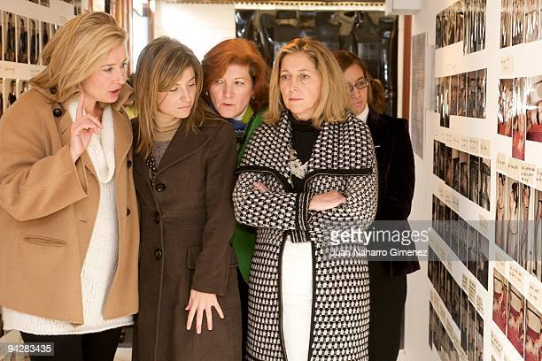 Emma Thompson Bibiana Aido and Concepcion Dancausa attend 'The Journey' exhibition in The Retiro park on December 11 2009 in Madrid Spain