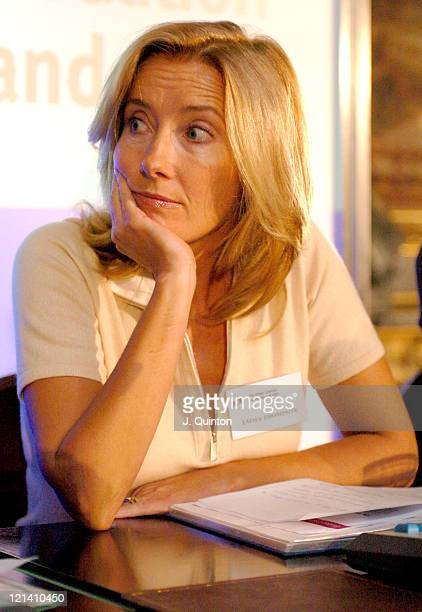 Emma Thompson during Global Coalition on Women and AIDS Press Conference Photocall at Marlborough House in London Great Britain