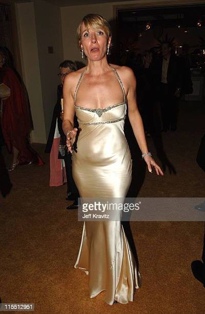 Emma Thompson during HBO 2006 Golden Globes After Party Red Carpet at Aqua Star Pool at the Beverly Hilton Hotel in Beverly Hills California United...