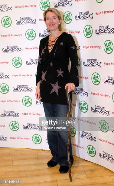 Emma Thompson during Leapster LMAX Hope at Hamleys at Hamleys in London Great Britain