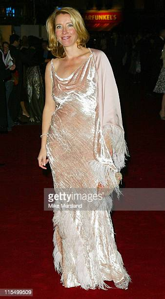 Emma Thompson during 'Love Actually' London Premiere Arrivals at The Odeon Leicester Square in London United Kingdom