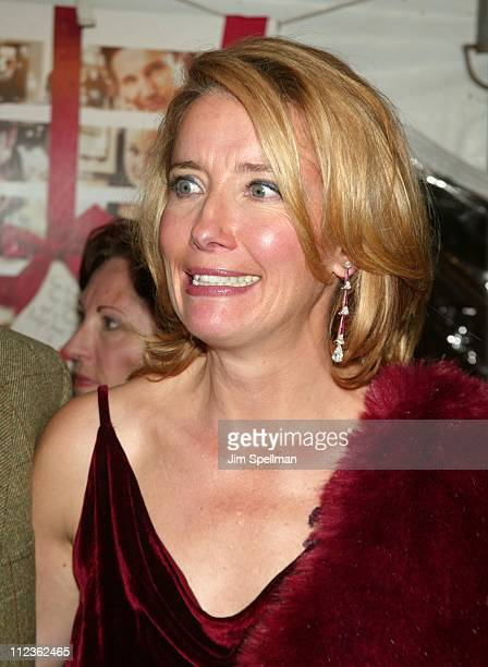 Emma Thompson during 'Love Actually' New York Premiere at Ziegfeld Theatre in New York City New York United States