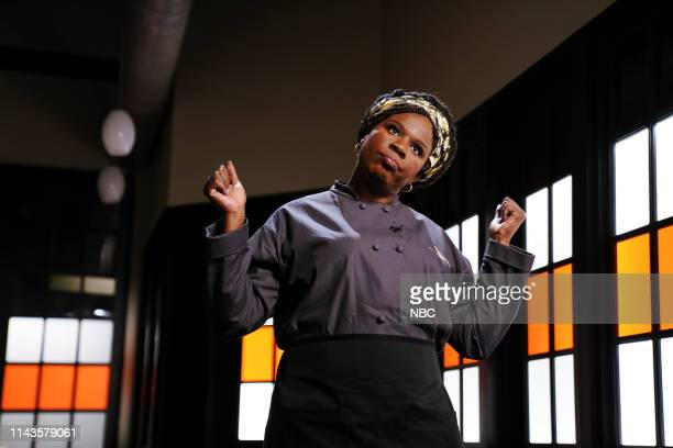 """Emma Thompson"""" Episode 1766 -- Pictured: Leslie Jones as Georgina during the """"Chopped"""" sketch on Saturday, May 11, 2019 --"""