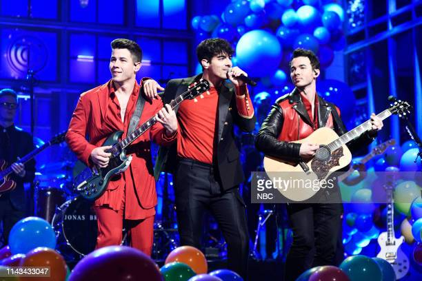 LIVE Emma Thompson Episode 1766 Pictured Musical guest Jonas Brothers perform on Saturday May 11 2019