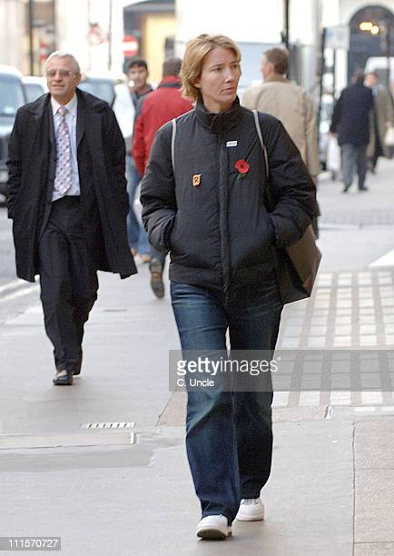 Emma Thompson *Exclusive Coverage* during Emma Thompson Sighting on Bond Street in London November 14 2005 at Bond Street in London Great Britain