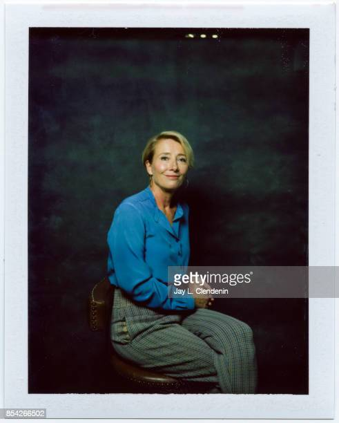 Emma Thompson from the film 'The Children Act' is photographed on polaroid film at the LA Times HQ at the 42nd Toronto International Film Festival in...