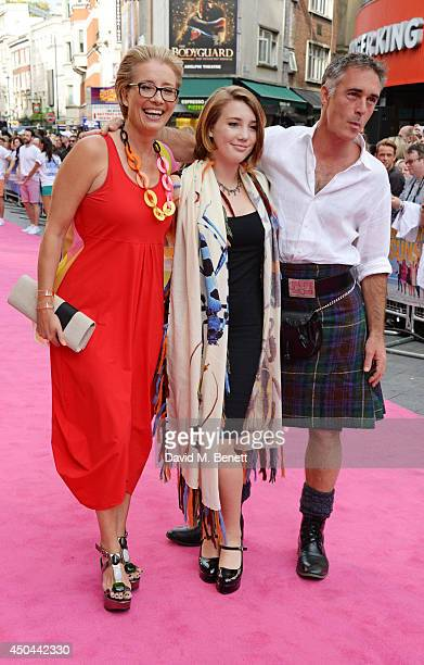Emma Thompson Gaia Wise and Greg Wise attend the UK Premiere of Walking On Sunshine at the Vue West End on June 11 2014 in London England