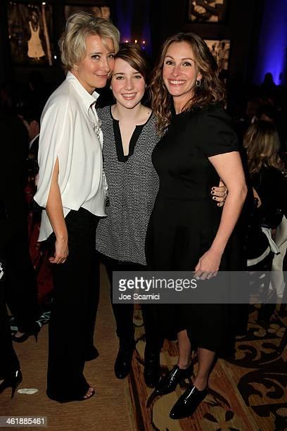 Emma Thompson Gaia Wise and Julia Roberts attend the 3rd annual Sean Penn Friends HELP HAITI HOME Gala benefiting J/P HRO presented by Giorgio Armani...
