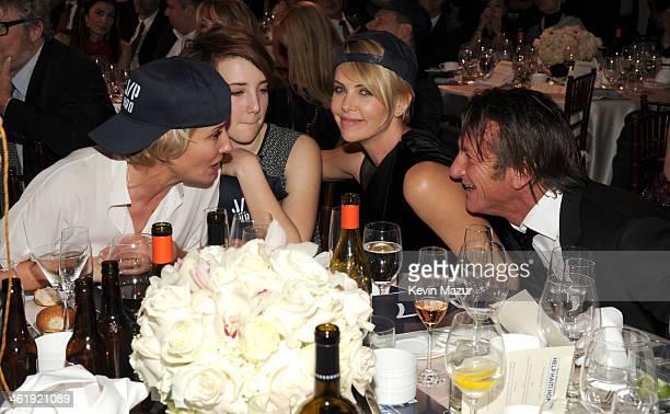 Emma Thompson Gaia Wise Charlize Theron and Sean Penn attend the 3rd annual Sean Penn Friends HELP HAITI HOME Gala benefiting J/P HRO presented by...