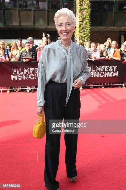 Emma Thompson is awarded at the Cine Merit Award Gala during the Munich Film Festival 2018 at Gasteig on June 29 2018 in Munich Germany