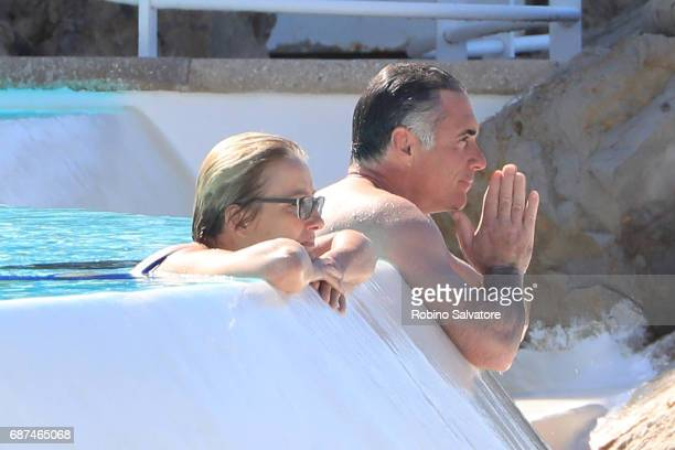 Emma Thompson is spotted with husband Greg Wise during the 70th annual Cannes Film Festival at on May 23 2017 in Cannes France
