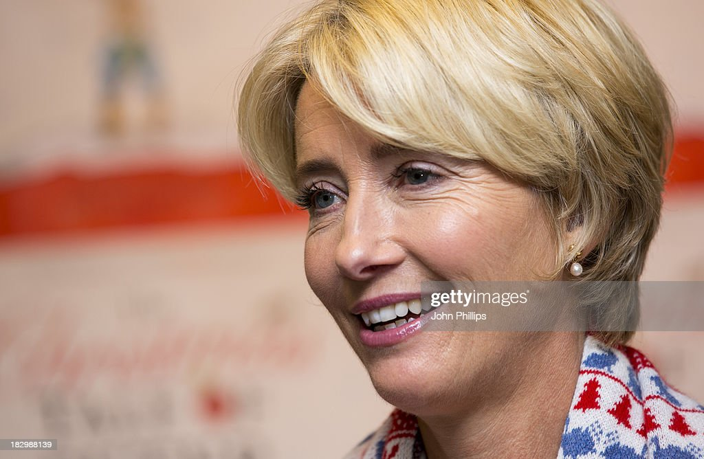 Emma Thompson meets fans and signs copies of her book 'The Christmas Tale Of Peter Rabbit' at Waterstones, Kings Road on October 3, 2013 in London, England.