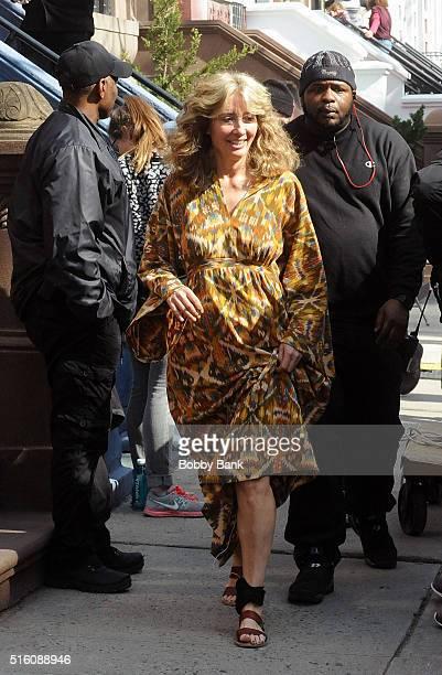 Emma Thompson on the set of director Noah Baumbach's Yah Din Ka Kissa on March 16 2016 in New York City