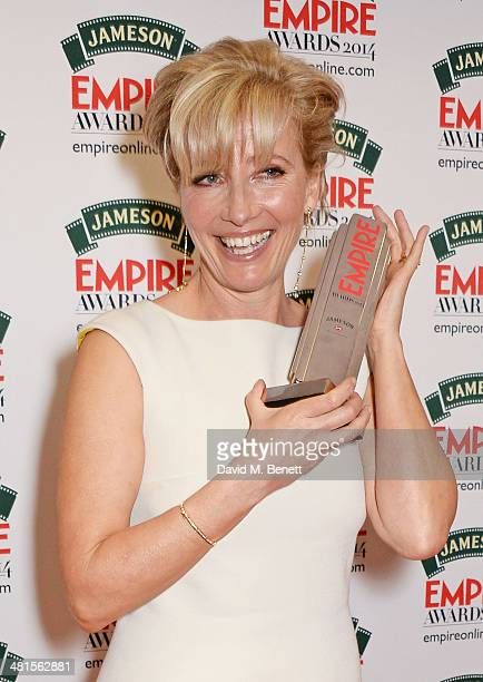 Emma Thompson winner of the Best Actress award for Saving Mr Banks poses in the press room at the Jameson Empire Awards 2014 at The Grosvenor House...
