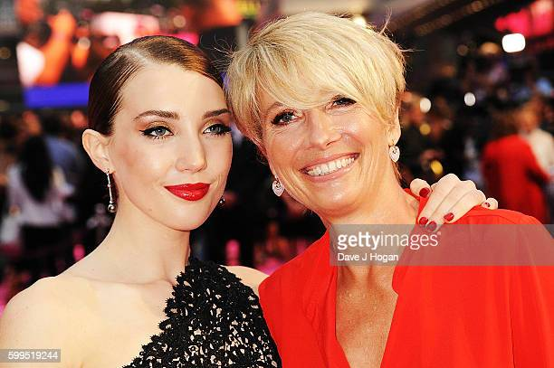 Emma Thompson with daughter Gaia Wise arrives for the world premiere of Bridget Jones's Baby at Odeon Leicester Square on September 5 2016 in London...