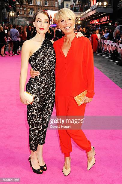 Emma Thompson with daughter Gaia Wise arrives for the world premiere of 'Bridget Jones's Baby' at Odeon Leicester Square on September 5 2016 in...