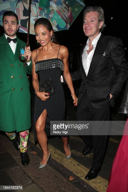 Emma Thynn, Marchioness of Bath and Ceawlin Thynn, 8th Marquess of Bath seen attending Annabel's For The Amazon, a fundraising event at Annabel's to...