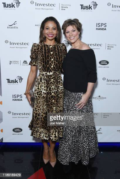 Emma Thynn Viscountess Weymouth and Kate Silverton attend the Tusk Conservation Awards ceremony at Empire Cineworld on November 21 2019 in London...