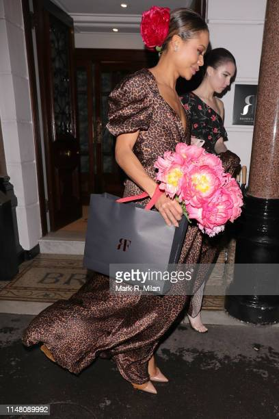 Emma Thynn Viscountess Weymouth attending a private dinner hosted by Michael Kors at Browns Hotel Mayfair on May 09 2019 in London England