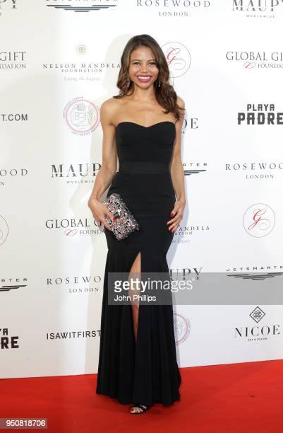Emma Thynn Viscountess Weymouth attends The Nelson Mandela Global Gift Gala at Rosewood London on April 24 2018 in London England
