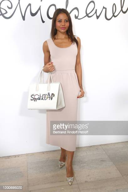 Emma Thynn, Viscountess Weymouth attends the Schiaparelli Haute Couture Spring/Summer 2020 show as part of Paris Fashion Week on January 20, 2020 in...