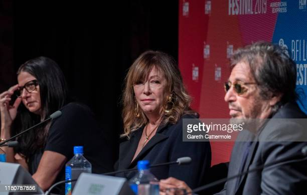 Emma Tillinger Koskoff Jane Rosenthal and Al Pacino at The Irishman press conference during the 63rd BFI London Film Festival at The May Fair Hotel...