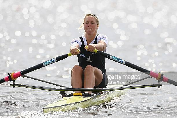 Emma Twigg of New Zealand in action in the Single Sculls heats during the World Rowing U23 Championships at Strathclyde Country Park on July 26, 2007...
