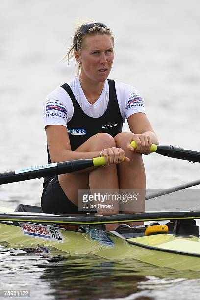 Emma Twigg of New Zealand prepares for the Single Sculls heats during the World Rowing U23 Championships at Strathclyde Country Park on July 26, 2007...