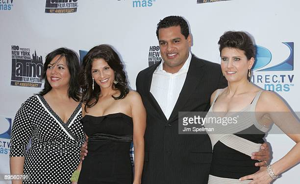 Emma Velez Darlene Rodriguez David Rodriguez and CoExecutive Director of The New York International Latino Film Festival Liz Gardner attend the 10th...