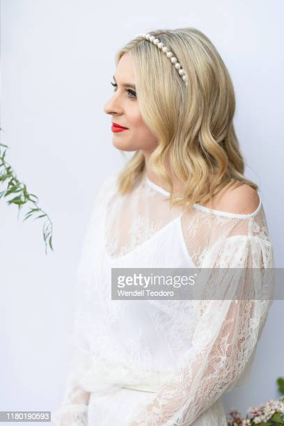 Emma Vosti attends the Everest Carnival Fashion Lunch at Royal Randwick Racecourse on October 10 2019 in Sydney Australia