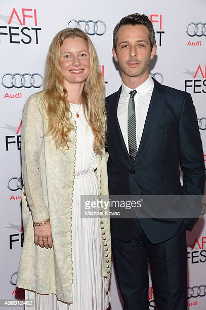 Emma Wall and actor Jeremy Strong attend the closing night gala premiere of Paramount Pictures' The Big Short during AFI FEST 2015 at TCL Chinese...