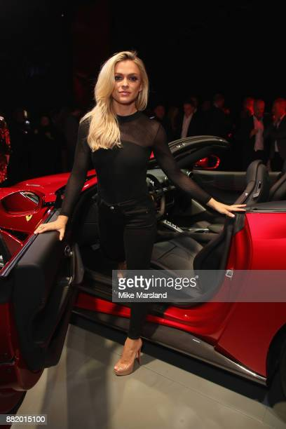 Emma Walsh attends the UK launch event for the new Ferrari Portofino at Kensington Olympia on November 29 2017 in London England