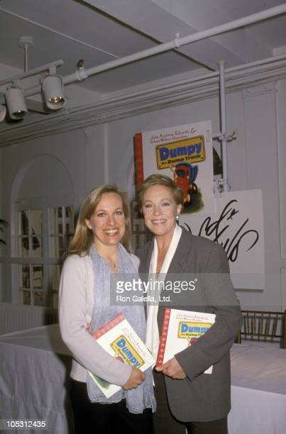 Emma Walter Hamilton and Julie Andrews during Reading and Signing of New Book 'Dumpy The Dump Truck' at Lord and Taylor in New York City New York...