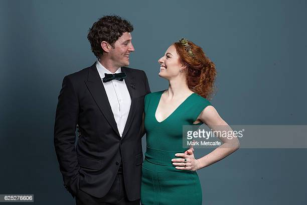 Emma Watkins and Lachlan Gillespie of The Wiggles pose for a portrait after winning an ARIA for Best Childrens Album during the 30th Annual ARIA...