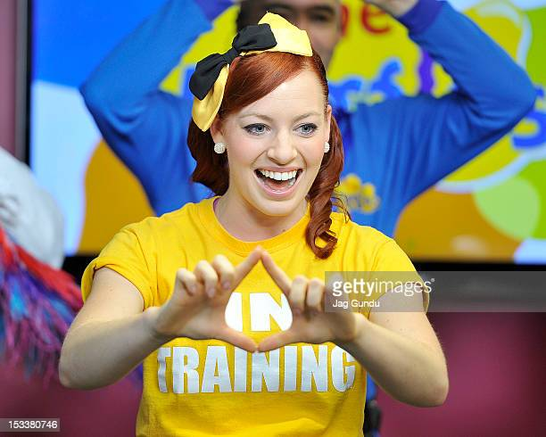 Emma Watkins the new generation of The Wiggles performs at The Morning Show Studios on October 4 2012 in Toronto Canada