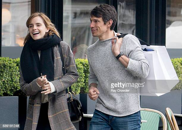 Emma Watson and boyfriend Max Knight are spotted out on JUNE 03 2016 in London United Kingdom