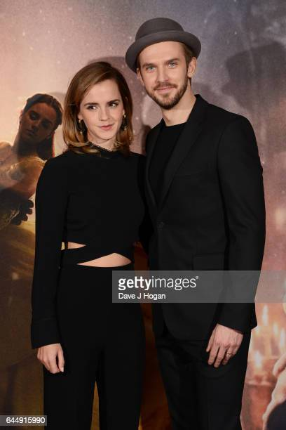 Emma Watson and Dan Stevens attend the photocall for 'Beauty And The Beast' at The Corinthia Hotel on February 24 2017 in London England