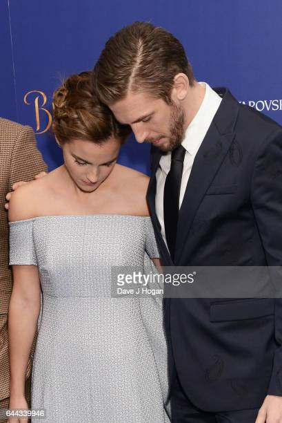 Emma Watson and Dan Stevens attend the UK Launch Event of 'Beauty And The Beast' at Odeon Leicester Square on February 23 2017 in London England