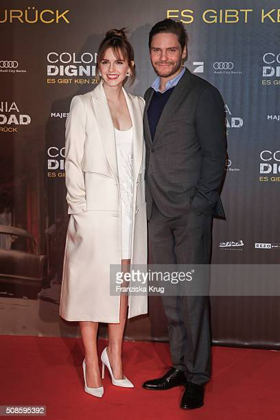 Emma Watson and Daniel Bruehl attend the 'Colonia Dignidad Es gibt kein zurueck' Berlin Premiere on February 5 2016 in Berlin Germany