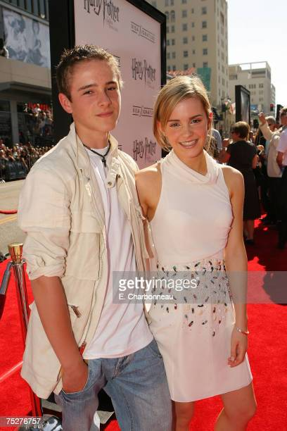 Emma Watson and her brother Alex at the Harry Potter and the Order of the Phoenix premiere at Grauman's Chinese Theatre on July 8 2007 in Hollywood...