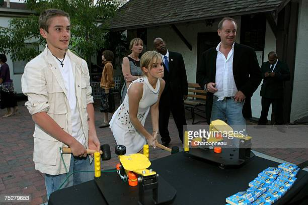 HOLLYWOOD JULY 08 Emma Watson and her brother Alex at the Harry Potter and the Order of the Phoenix premiere after party on July 8 2007 in Hollywood...