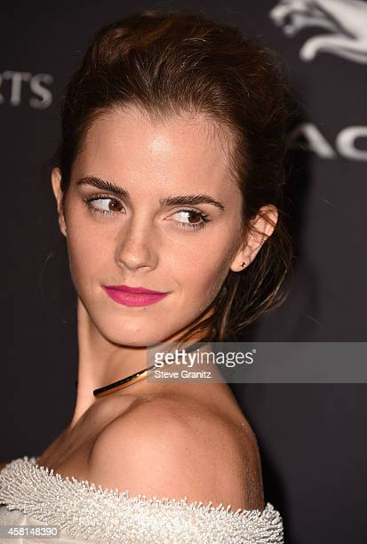 Emma Watson arrives at the 2014 BAFTA Los Angeles Jaguar Britannia Awards Presented By BBC America And United Airlines at The Beverly Hilton Hotel on...