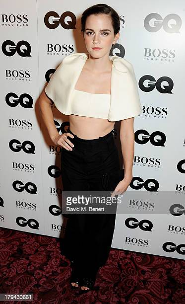 Emma Watson arrives at the GQ Men of the Year awards at The Royal Opera House on September 3 2013 in London England