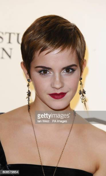 Emma Watson arrives for a reception to announce Warner Bros acquisition of Leavesden Studios and plans for a major UK production base at Claridges...