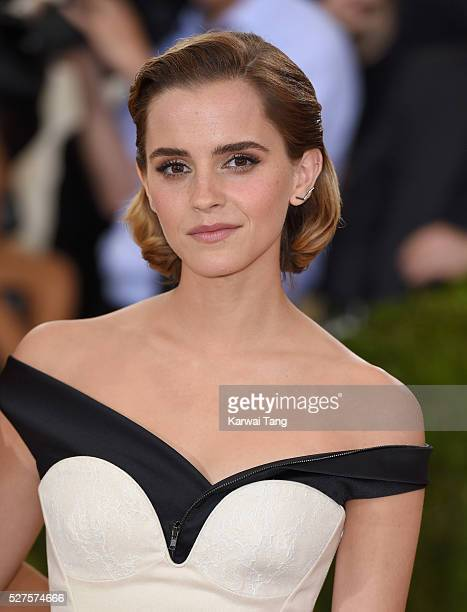 Emma Watson arrives for the 'Manus x Machina Fashion In An Age Of Technology' Costume Institute Gala at Metropolitan Museum of Art on May 2 2016 in...