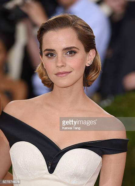 Emma Watson arrives for the Manus x Machina Fashion In An Age Of Technology Costume Institute Gala at Metropolitan Museum of Art on May 2 2016 in New...