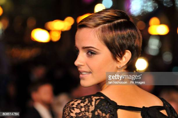 Emma Watson arrives for the world premiere of Harry Potter and the Deathly Hallows