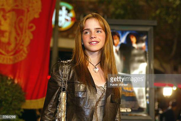 "Emma Watson at the Los Angeles premiere of "" Harry Potter and the Chamber of Secrets"" at the Village Theatre, Thursday, Nov. 14, 2002. Photo by Kevin..."